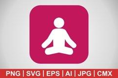 Vector Yoga Icon Product Image 1
