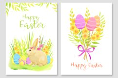 Happy Easter invitations and cards vector set Product Image 4