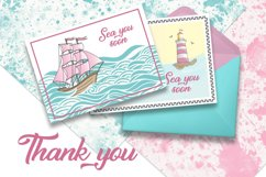 PINK SEA Color Vector Illustration Set Product Image 4