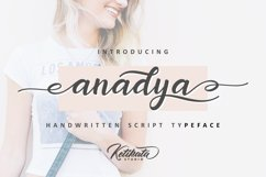 Anadya Handwritten Script Product Image 1