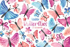 Butterflies Digital Papers Product Image 2