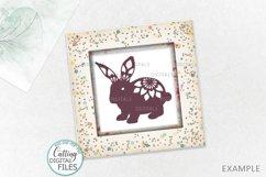 Floral Easter Bunnies set paper cut laser cut svg dxf files Product Image 3