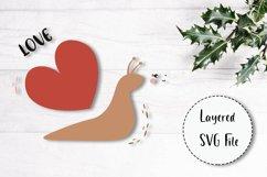 SVG Valentine Baby Animals Bundle. Love heart. Nursery. Product Image 6