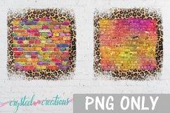 Sublimation Brick Wood Glitter Leopard Bundle Sublimation Product Image 6