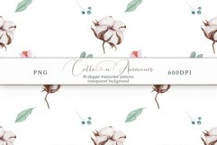 Cotton & Anemones Seamless Patterns Product Image 7