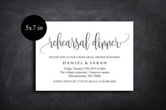 Rehearsal Dinner Invitation, Rehearsal Dinner Template Product Image 5