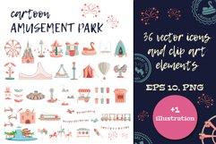 Cartoon amusement park ICON SET. Product Image 1