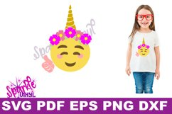 Unicorn emoji svg, Emoji Unicorn Svg files for cricut or Silhouette, Cut file, dxf pdf eps, printable, Unicorn svg, Emoji Svg, cutting files Product Image 2