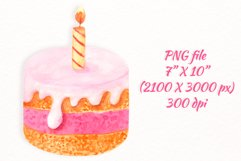 Birthday cake with candle clipart Product Image 3