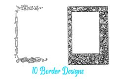 10 William Morris Style Border Lines Illustration Collection Product Image 6