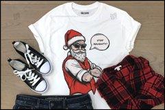 Naughty Santa, Christmas T Shirt Design, Christmas Clipart Product Image 5