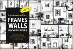 Scandinavian Interior Frames & Walls Mockup Bundle - 3 Product Image 1
