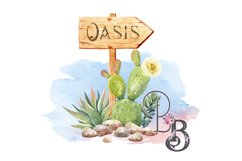 Oasis Sign Cactus West Product Image 1