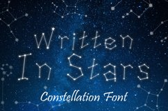 Written in Stars, Constellation Zodiac Font! Product Image 1