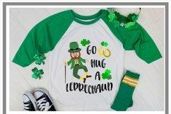 St Patrick's Day Irish Go A Hug A Leprechaun SVG Product Image 2