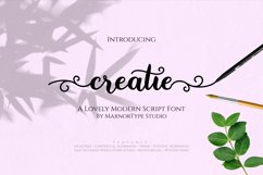 Creatie - A Lovely Modern Script Font Product Image 1