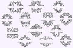 Vintage Split Frame Decal Bundle - 25 SVG cut files Product Image 3