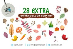 Watercolor Forest Animal Pattern Set Product Image 4