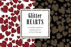 Valentine Digital Paper, Glitter Heart Pattern Product Image 2