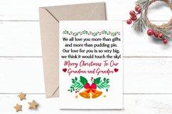 Printable Christmas Card Greeting for Grandma Grandpa Product Image 1