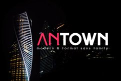 ANTOWN | modern & formal sans family Product Image 1