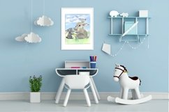 Mom and baby animals, watercolor clipart,Mothers day Product Image 6