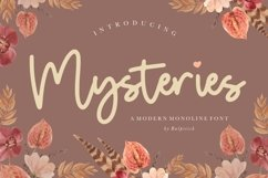 Mysteries Modern Monoline Font Product Image 1