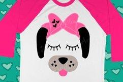 Dog Bow Birthday Cute Popular Girl svg shirt design Product Image 1