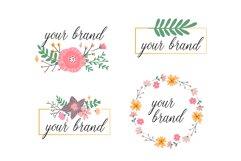 Vector Flower Illustrations Frames Product Image 3