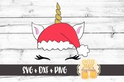 Santa Christmas Unicorn - Unicorn SVG - Christmas SVG Files Product Image 2