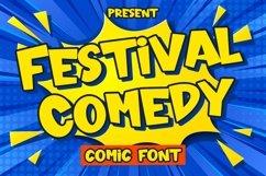 Web Font Festival Comedy - Comic Font Product Image 1