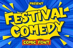 Festival Comedy - Comic Font Product Image 1