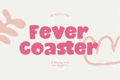 Fever Coaster Display Font Product Image 1