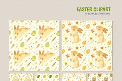 Easter Bunny - watercolor clipart, seamless patterns & cards Product Image 4