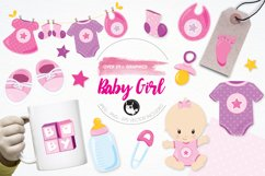 Baby Girl graphics and illustrations Product Image 1