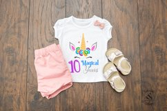 10 Magical Years Unicorn Tenth Birthday SVG Product Image 2