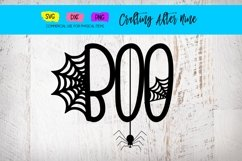 Boo Spider Web, Halloween, My First Boo, Bat Cat Witch Product Image 1