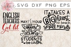 Teachin' Bundle of 17 SVG PNG EPS DXF Cutting Files Product Image 5
