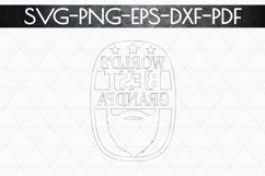 World's Best Grandpa Paper cut Template, Grandpa SVG, PDF Product Image 6