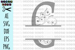 SVG Ornamental Split Monogram Alphabet, Split Ornamental Monogram, Monogram Letters - Cut Files for Silhouette, Cut Files Cricut Machines Product Image 4