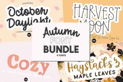 Autumn Font Bundle - 4 Hand Lettered Fall Fonts Product Image 1