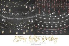 String Lights Clipart, Mason jar Chalkboard Party Lights Product Image 1