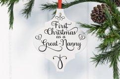 Arabesque Tile First Christmas As A Grandma Nanny Product Image 2