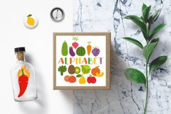 Kids alphabet. fruit and vegetable PNG. Baby vegetables. Product Image 3