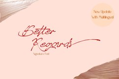 Better Regards Signature Font Product Image 1