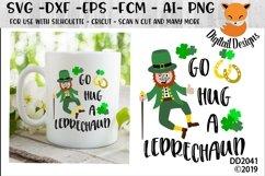 St Patrick's Day Irish Go A Hug A Leprechaun SVG Product Image 1