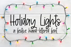 Holiday Lights - A Hand-Lettered Christmas Font Product Image 1