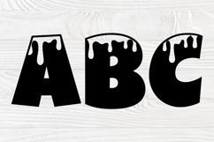 Dripping Font SVG, Dripping Letters, Alphabet Clipart Product Image 2