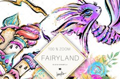 Fairy Clipart, Unicorn Dragon Frog Castle Clipart Product Image 3