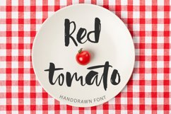 Red tomato. Script font. Product Image 1